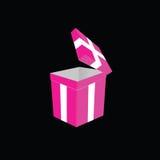 Vector del rosa de la caja de regalo Foto de archivo libre de regalías