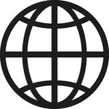 Vector del símbolo del globo ilustración del vector