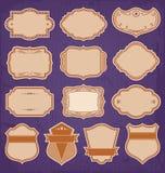 Vector del sistema de etiquetas del marco del vintage Fotografía de archivo libre de regalías