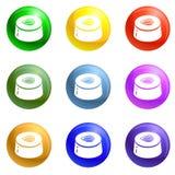Vector del sistema de los iconos del caramelo de Choco ilustración del vector