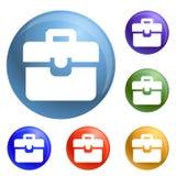 Vector del sistema de los iconos de la cartera stock de ilustración