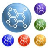 Vector del sistema de los iconos de la fórmula del oxígeno libre illustration