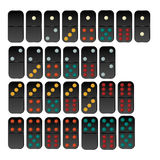 Vector del sistema del dominó Fotografía de archivo