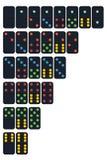 Vector del sistema del dominó en color de la tendencia Fotografía de archivo libre de regalías