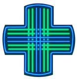 Vector del símbolo de la farmacia Fotografía de archivo libre de regalías