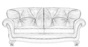 Vector del sofá Imagenes de archivo