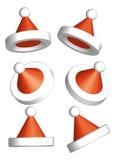 Vector del sombrero 3d de Papá Noel Imágenes de archivo libres de regalías