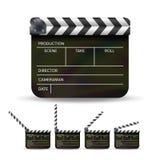 Vector del tablero de chapaleta Chapaleta negra del cine aislada en un fondo blanco Foto de archivo libre de regalías