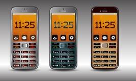 Vector del teléfono móvil Fotografía de archivo libre de regalías