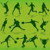 Vector del tenis Imagen de archivo libre de regalías