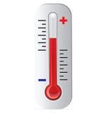 Vector del termómetro Foto de archivo libre de regalías