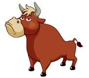 Vector del toro de la historieta ilustración del vector