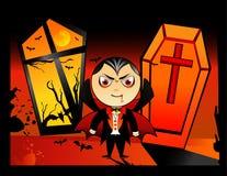 Vector del vampiro de Víspera de Todos los Santos ilustración del vector