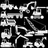 Vector del vehículo de la construcción de la forma Foto de archivo libre de regalías