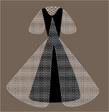 Vector del vestido de bola Foto de archivo libre de regalías