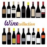 Vector del vino de la botella Fotografía de archivo libre de regalías