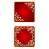 Vector del vintage del corazón de la tarjeta del día de San Valentín de la bandera del botón Imágenes de archivo libres de regalías