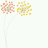 Vector delicate flower background Stock Image