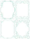 Vector delicate frames. Set on a white background Stock Photo