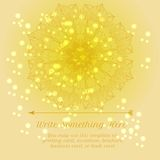 Vector delicate lace round floral pattern Royalty Free Stock Image