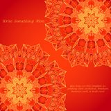 Vector delicate lace round pattern Royalty Free Stock Photography