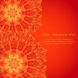 Vector delicate lace round pattern Stock Photo