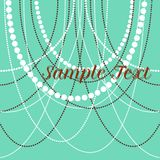 Vector delicate pearl beads for backgrounds, cards. Invitations Royalty Free Stock Photo