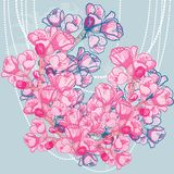 Vector delicate spring flower on background Stock Images