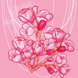 Vector delicate spring flower on background Royalty Free Stock Photo