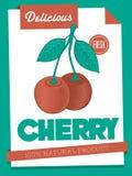 Vector delicious cherry poster Royalty Free Stock Photos