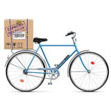 Vector Delivery Bicycle with Carton Box Royalty Free Stock Image