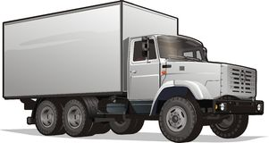 Vector Delivery/Cargo Heavy Truck Stock Image