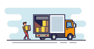 Vector delivery cargo Stock Images
