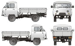 Vector delivery / cargo truck Stock Photo