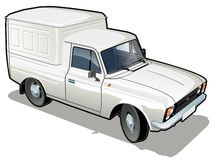 Vector delivery / cargo van Royalty Free Stock Photography