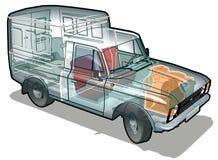 Vector delivery / cargo van stock photography