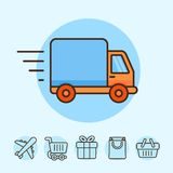Vector delivery concept Royalty Free Stock Photos