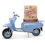 Vector Delivery Scooter Royalty Free Stock Photography