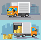 Vector delivery truck Stock Photography