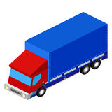 Vector delivery truck isometric set Stock Photos