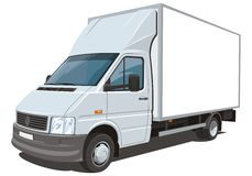 Delivery truck stock image