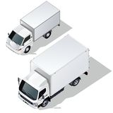 Vector delivery trucks set Royalty Free Stock Image