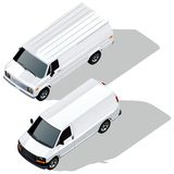 Vector delivery vans set Stock Image