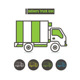 Vector Delivery vehicles icon color on white background. Vector set Delivery vehicles icon color on white background Royalty Free Stock Photo
