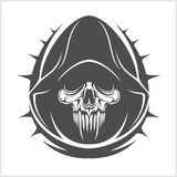Vector Demon Skull Stock Photo