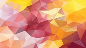 Vector den unregelmäßigen polygonalen Hintergrund - Dreieckniedriges Polymuster - gelb, rosa, purpurrote, violette Farbe Stockbild