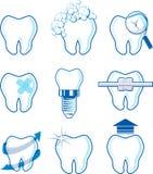 Vector dental de los iconos Imágenes de archivo libres de regalías