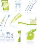 Vector dental icon set Stock Images