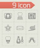 Vector Dental icon set Stock Photography