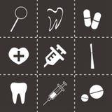 Vector dental  icons set Royalty Free Stock Image
